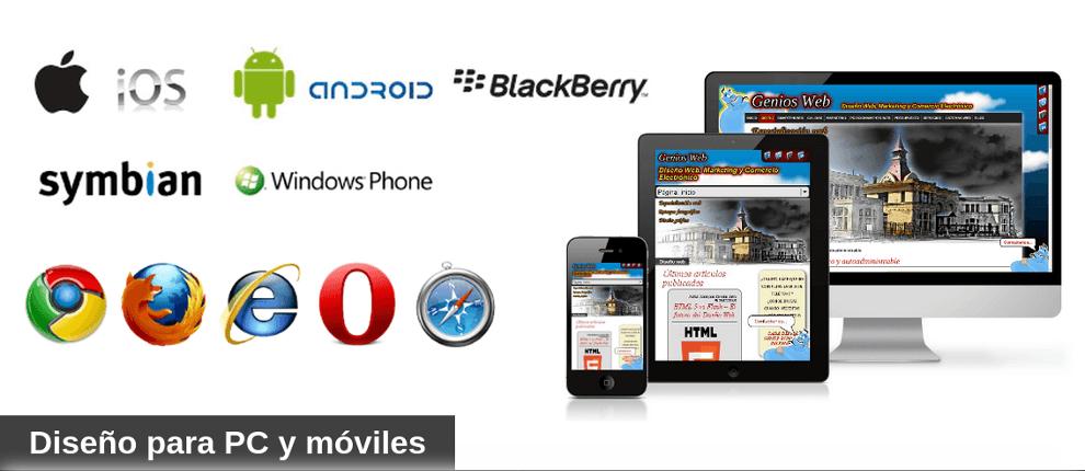 Diseño web para smartphones, pc y tablets
