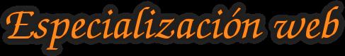 Especialización web
