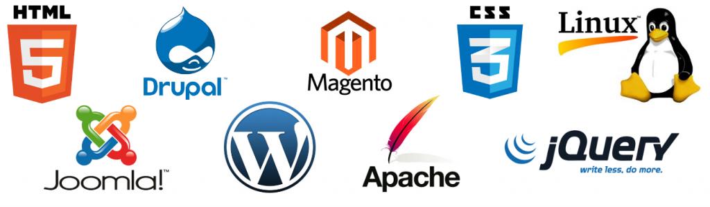 Herramientas para el diseño de sitios web Modernos, Magento, WordPress, jQuery, Drupal, HTML5, css3, Joomla, Linux, Apache